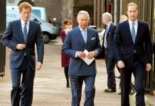 Prince William, Prince Charles and then Prince, Harry