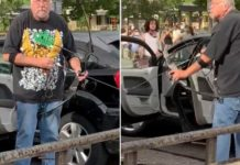 Protesters take on driver aiming bow and arrow at them in Salt Lake City