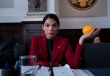 """An AOC-like character appears in Steve Carell's new Netflix show """"Space Force.""""Netflix"""
