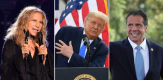 Barbra Streisand, Donald Trump and Andrew CuomoGetty