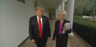"""POTUS Donald Trump abruptly ended the """"60 Minutes"""" interview with Lesley Stahl, and then tweeted a video on Twitter showing her mask-free"""