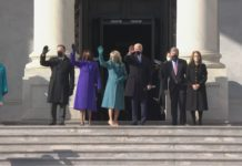 Everyone's using purple at Biden's Inauguration today and there is a reason why for the color.