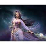 Moon goddess purple text