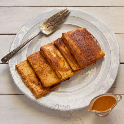 Sesame baked tofu