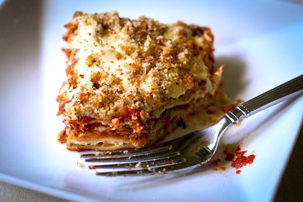Vegan Lasagna | Dairy-free, gluten-free, plant-based from Stephanie Weaver MPH
