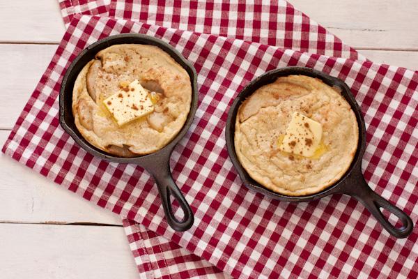 Puffed Pear Pancake from Stephanie Weaver, MPH | Gluten-free Dutch baby, vegan option