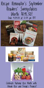 September 2014 Readers' Sweepstakes on Recipe Renovator