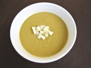 Creamy sweet potato pumpkin soup from Tasting Page