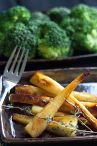 Honey-Maple Roasted Parsnips from Erren's Kitchen