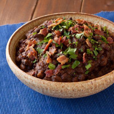 Drunken beans {gluten-free, low-sodium}