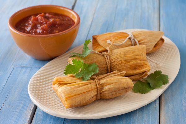 Grain-free paleo tamales in the pressure cooker