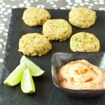 Salmon-chickpea sliders with sriracha-lime dipping sauce | Recipe Renovator | Gluten-free, migraine-friendly