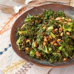 Pan-Roasted Kale with Crispy Italian Breadcrumbs | Recipe Renovator | Gluten-free, vegan, vegetarian, dairy-free
