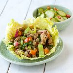 Thai Turkey Lettuce Wraps from Recipe Renovator | gluten-free, grain-free, paleo, Whole30 compliant, dairy-free