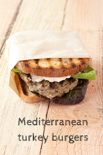Mediterranean turkey burgers from Stephanie The Recipe Renovator | paleo, gluten-free, Whole30 compliant