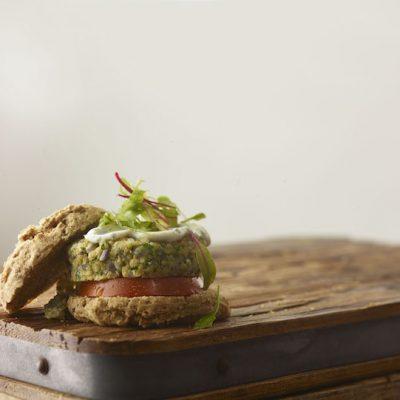 Chickpea hemp veggie burgers