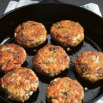Dukka-spiced salmon patties from Low-So Good by Jessica Goldman Foung