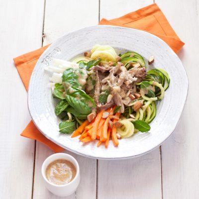 Pork spring roll salad