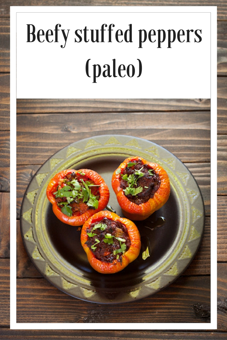 Beefy stuffed peppers from Recipe Renovator | paleo, gluten-free, grain-free, low-sodium, dairy-free