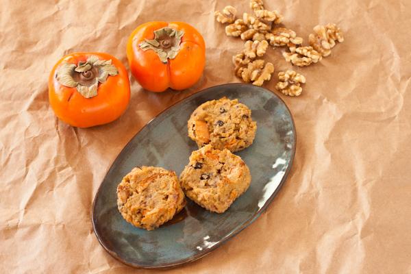 Persimmon-walnut muffins from Recipe Renovator | Grain-free, paleo, vegan