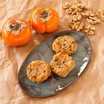 Persimmon-walnut muffins {paleo}