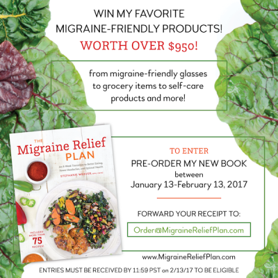 Pre-order giveaway for my book The Migraine Relief Plan