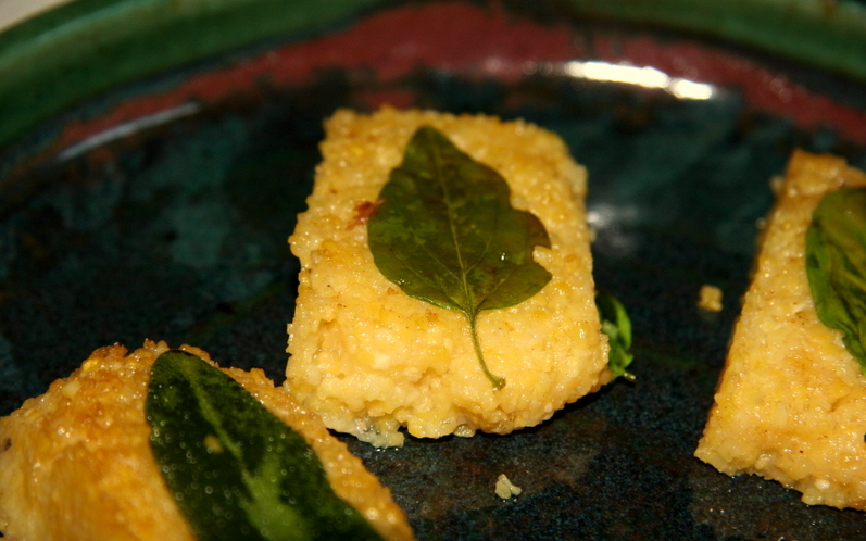 Polenta with herbs