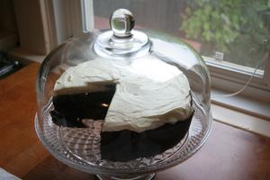 Guinness cake in glass