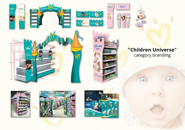 Pampers si Johnson's Baby In-store branding