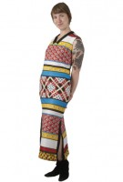 Supremely Statuesque Multi Pattern Maxi Dress