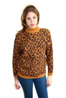Leopard Me Warm You Up Sweater