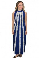 Beautiful Blue X Maxi Dress