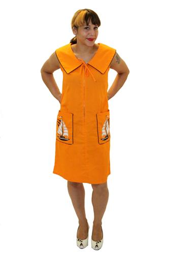 Orange You Glad to See Me Sailor? Dress