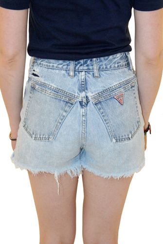 High Waisted Light Denim Guess Jean Shorts