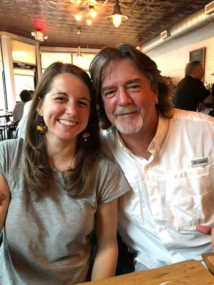 Kristin Beale and her father