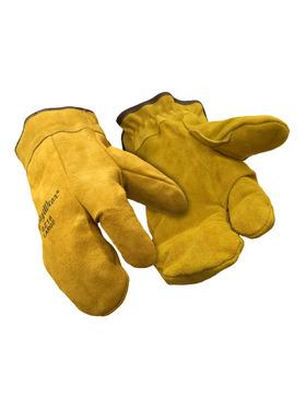 Three Finger Leather Mitt