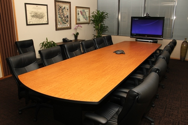 Unocal Pl Santa Rosa CA Video Conferencing Room And - 20 person conference table
