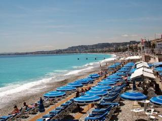 French Riviera close to the beach