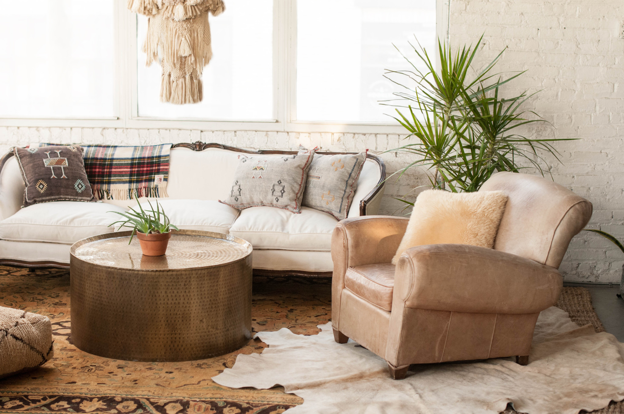 Brass Drum Coffee Table