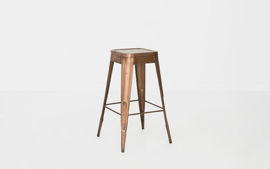 Copper marais bar stool patina - Marais counter stool ...