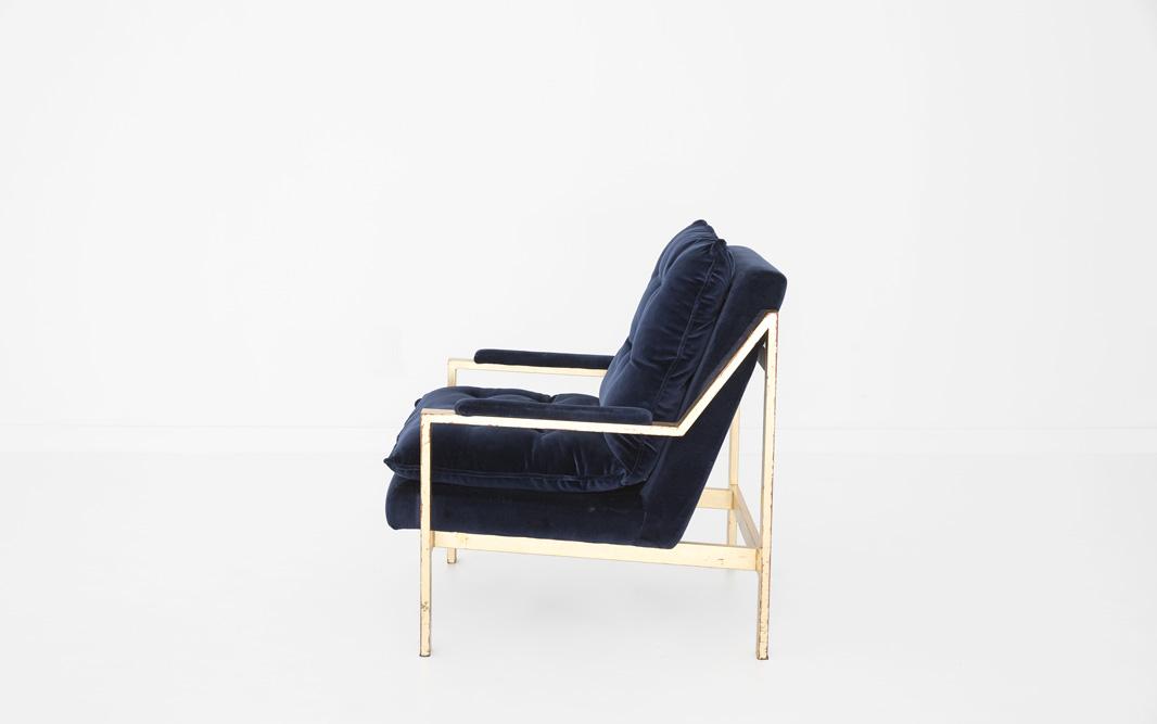 Velvet Crush Chair Blue Patina