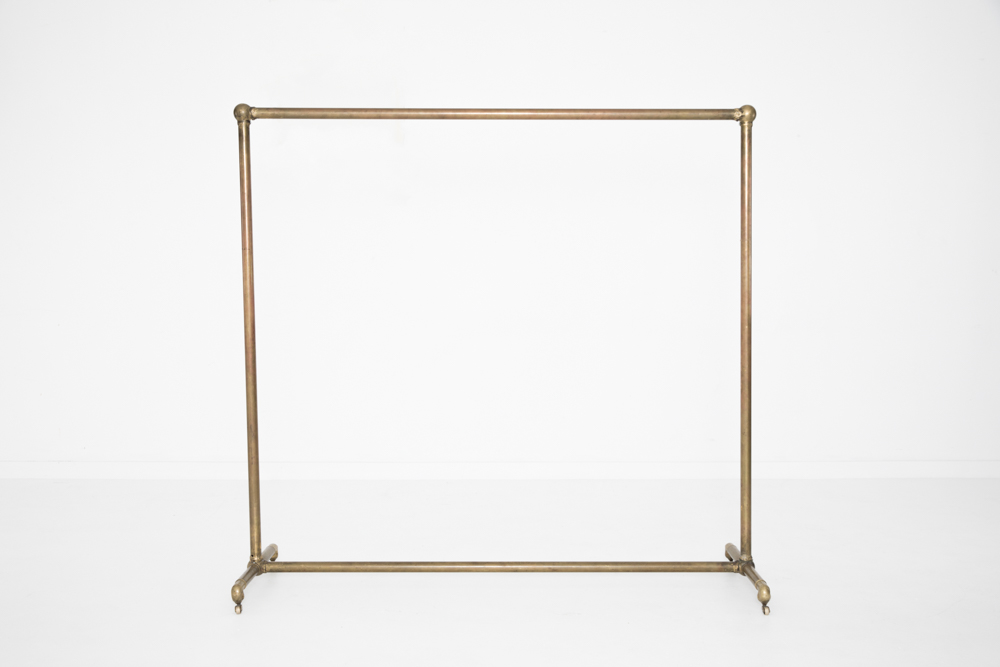Brass Garment Rack Patina