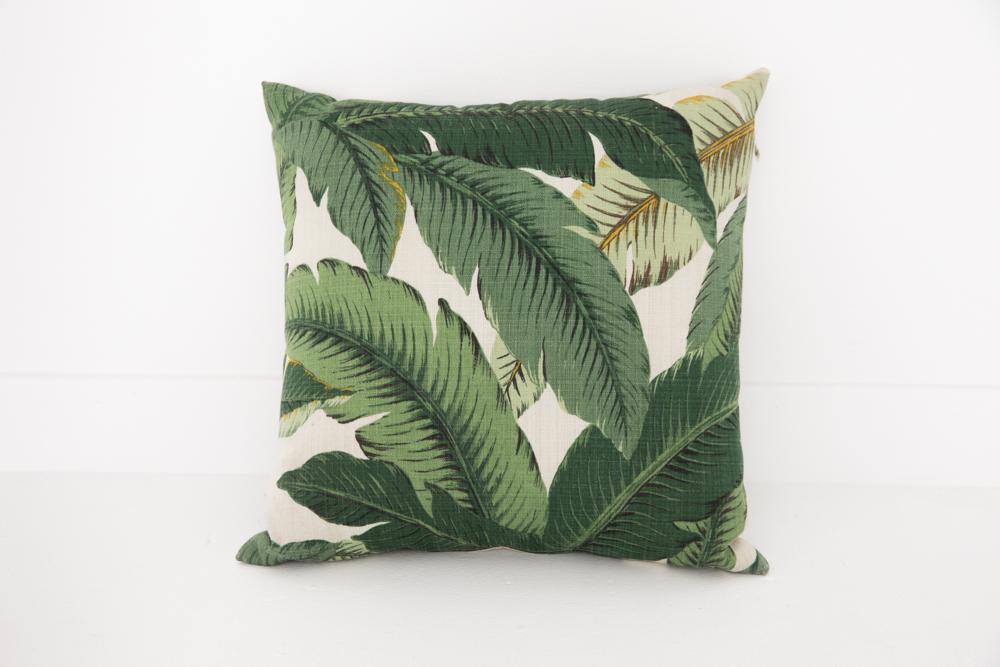 Banana Leaf Pillow Patina