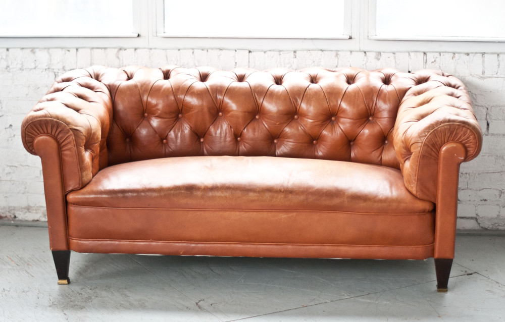 Meet Our Buttery Soft, Tufted Leather Settee Known As The Wythe Sofa. This  Sofa Has A Neutral Feel With A Butterscotch Color, Making It The Perfect  Piece To ...