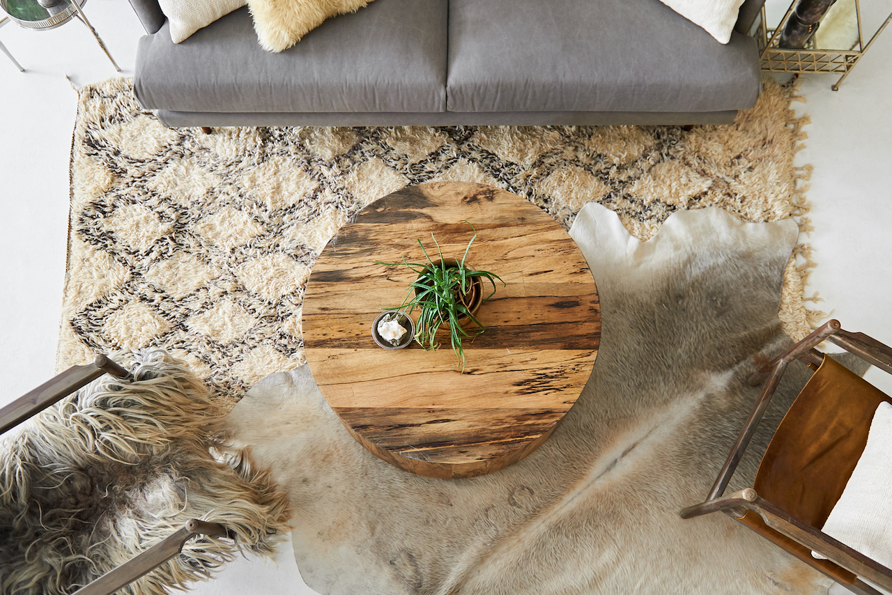 Cowhide Rugs Neutral Patina