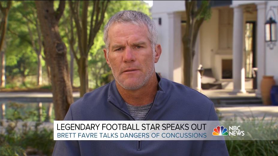 Brett Favre Concussion TBI