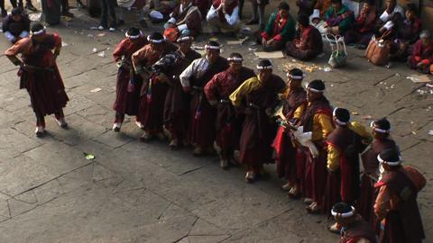 Chhoe Zhey, Paro Tsechu, Day One: Inside the Dzong [Wide shot]