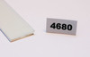 "4680   -   Plastic termination strips, 1/16"" x 1/2"" x 5', double sided tape"