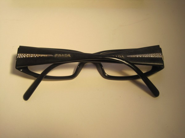 Eyeglass Frames On Consignment : Vintage Prada Eyeglasses With Rhinestones Sold by Town ...