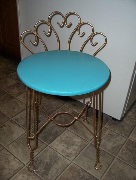 metal vanity stool 2